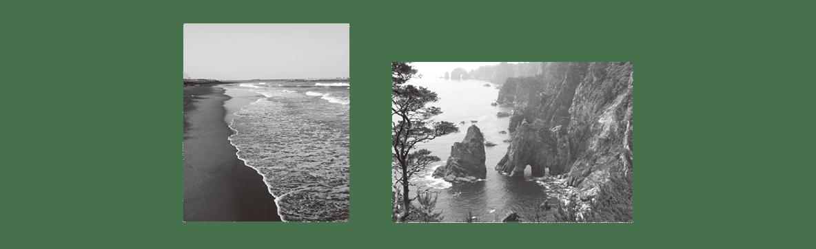 中学地理35 練習2 2枚の写真を左右に(上の写真を左に)配置、解答欄不要