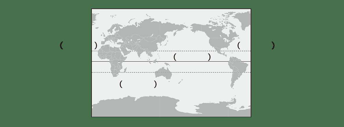 中学地理1 ポイント2 カッコ空欄
