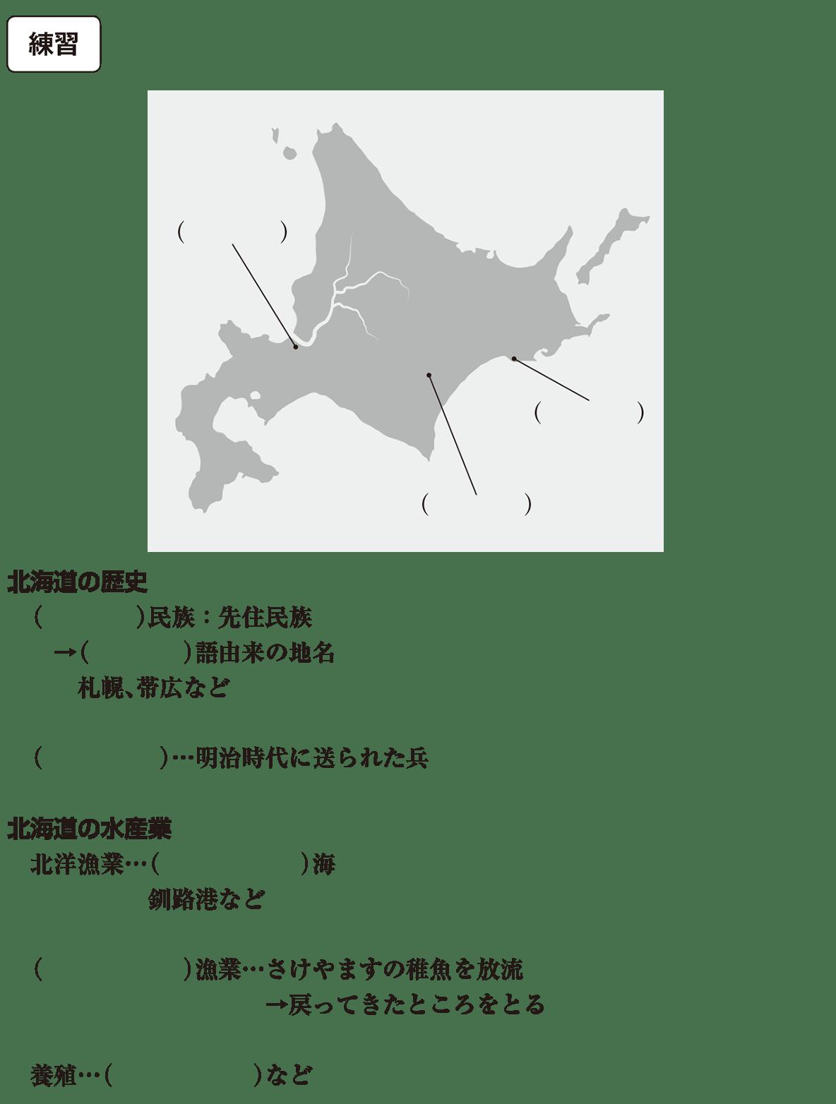 中学地理78 練習 カッコ空欄