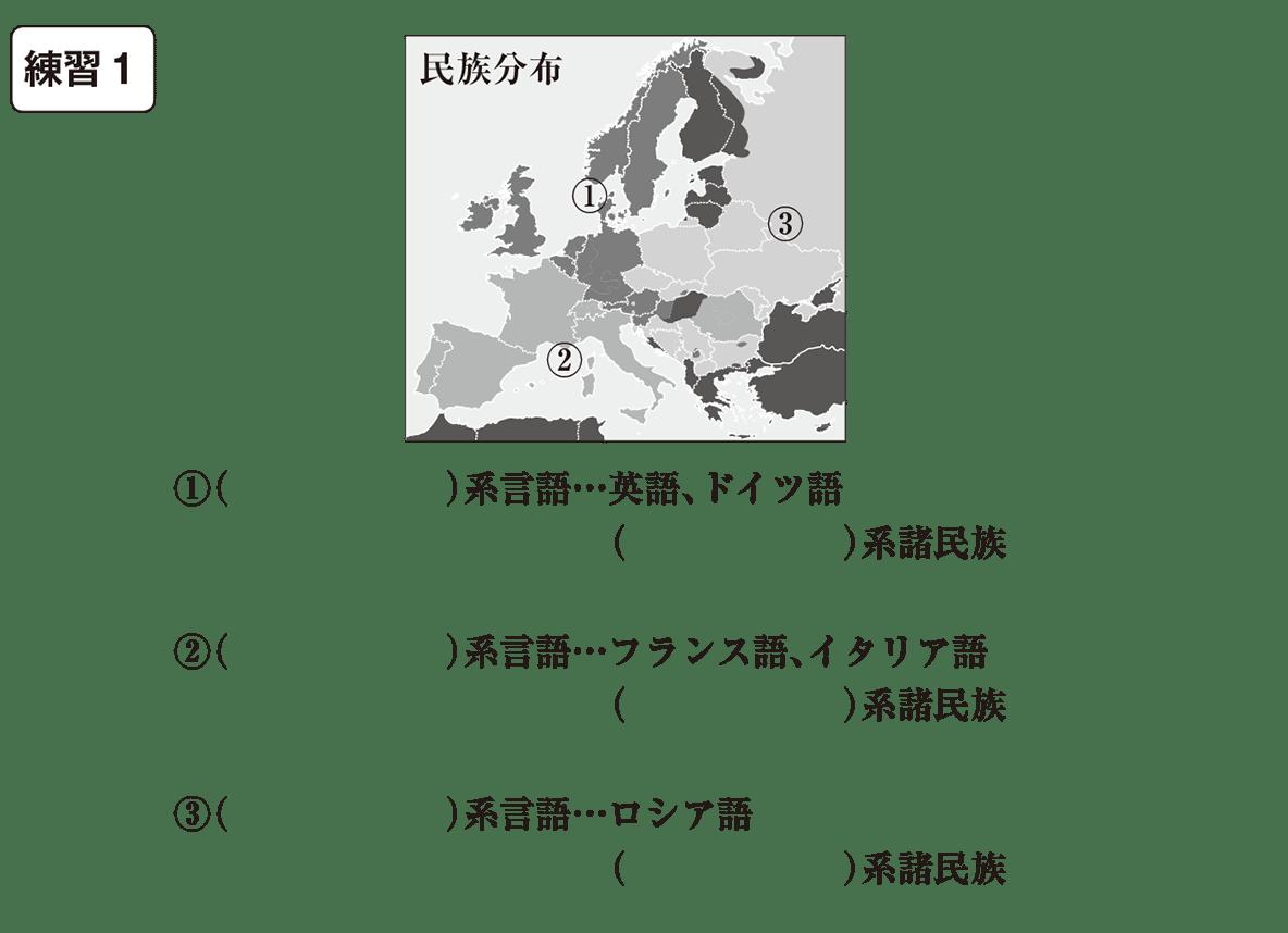 中学地理19 練習1 カッコ空欄