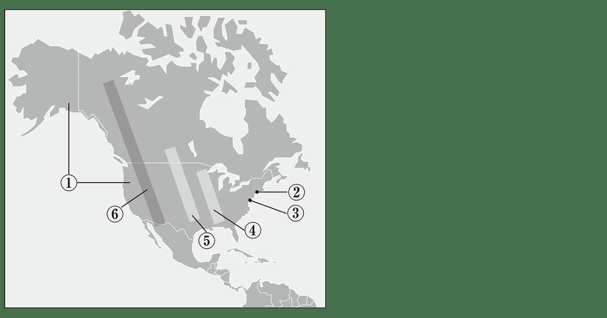 中学地理23 練習1 地図のみ