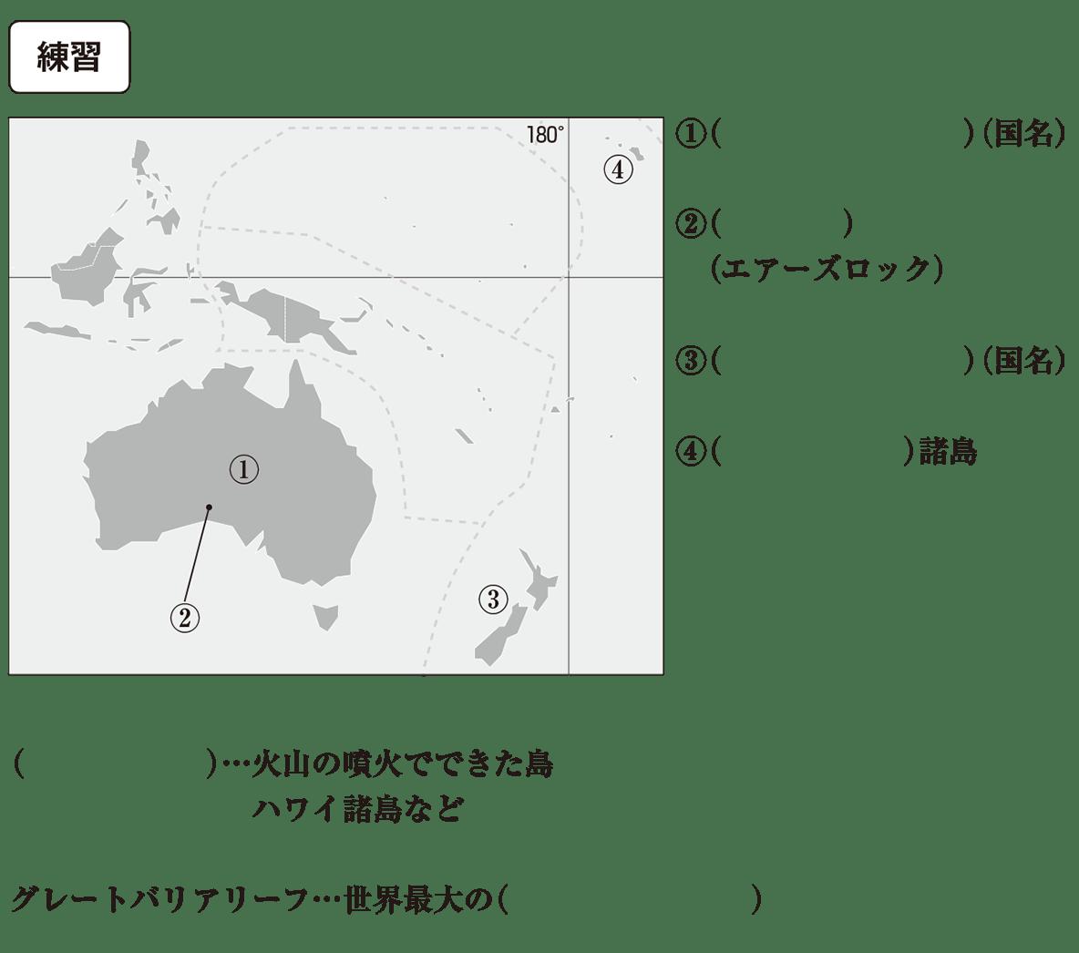 中学地理28 練習 カッコ空欄