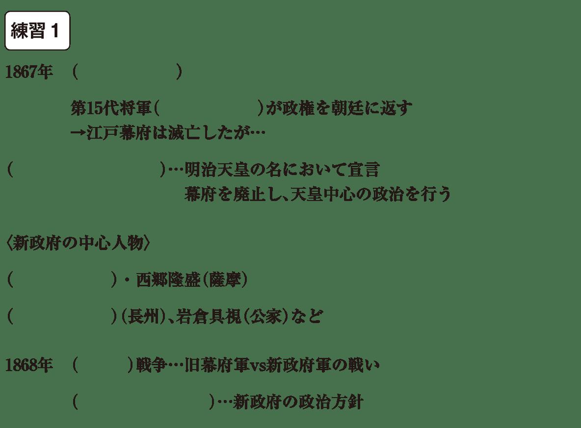 中学歴史44 練習1 カッコ空欄