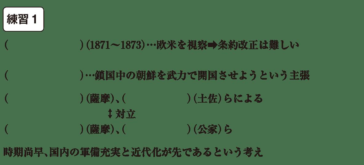 中学歴史47 練習1 カッコ空欄