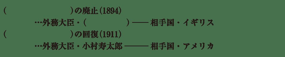 中学歴史50 練習1 最後の4行のみ表示、カッコ空欄