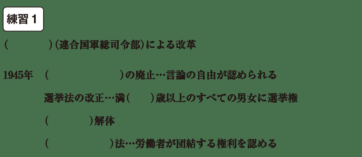 中学歴史62 練習1 カッコ空欄