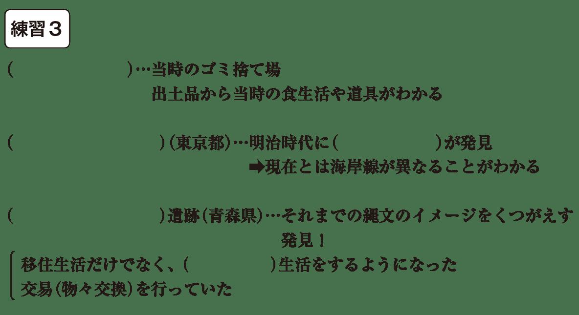 中学歴史4 練習3 カッコ空欄