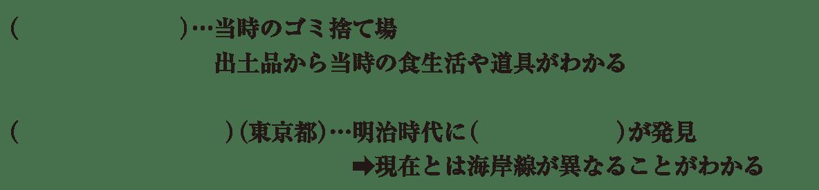 中学歴史4 練習3 4行目まで カッコ空欄