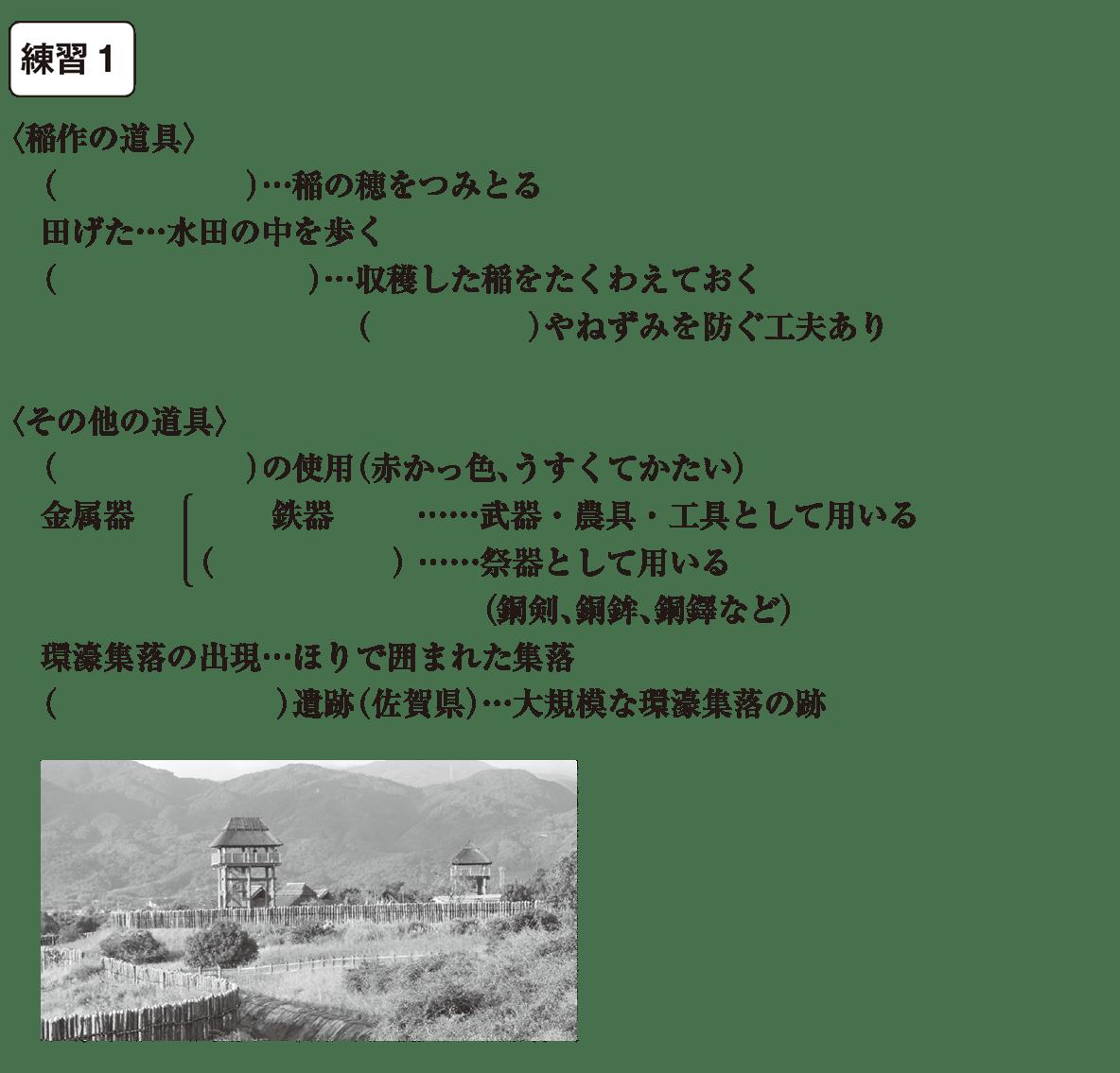 中学歴史5 練習1 カッコ空欄