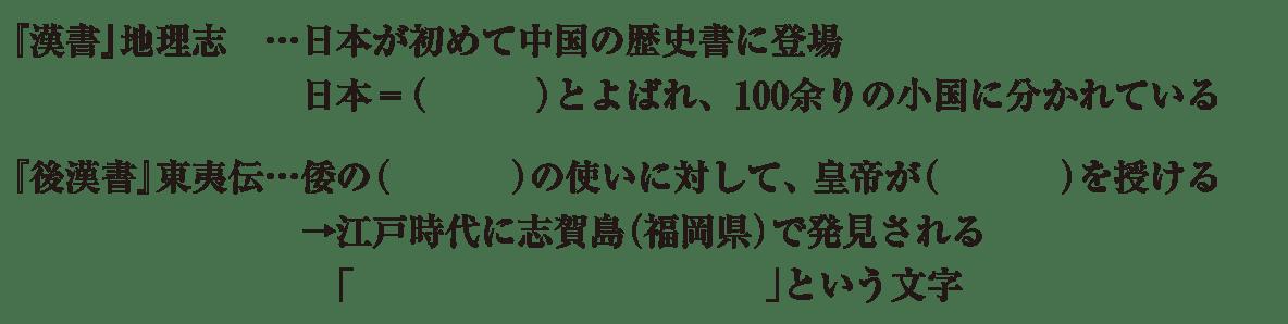中学歴史5 練習2 はじめの5行のみ カッコ空欄