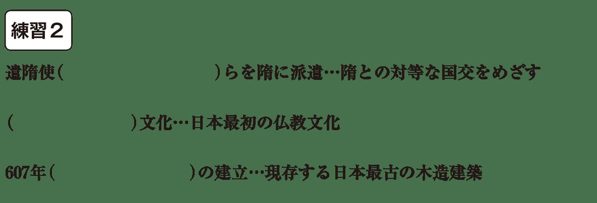 中学歴史7 練習2 カッコ空欄