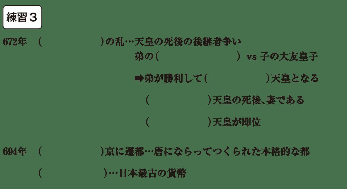 中学歴史8 練習3 カッコ空欄