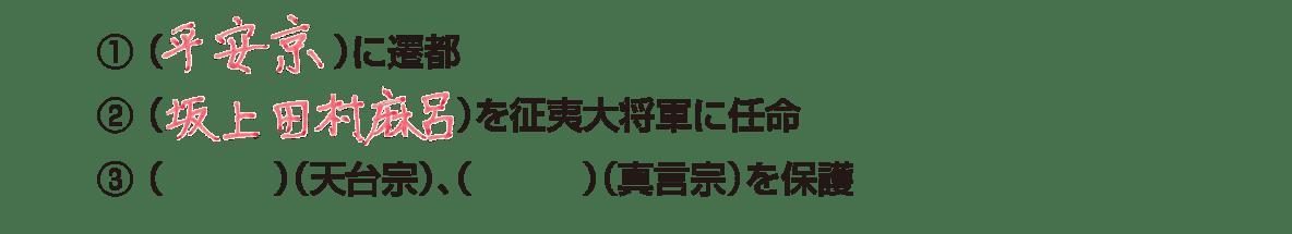 中学歴史11 ポイント1 すべて表示、①②答え入り