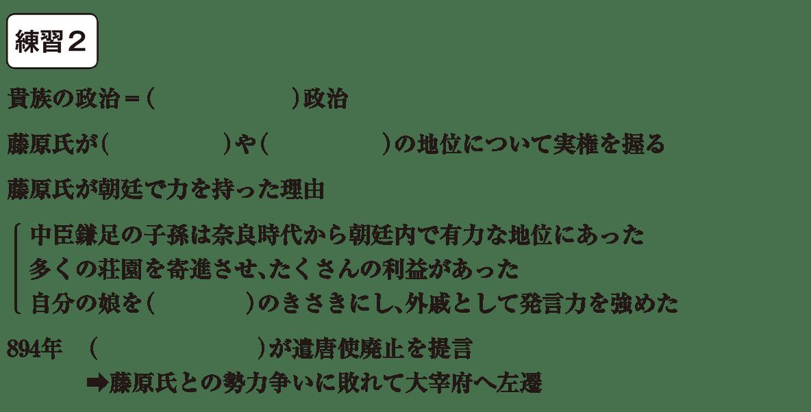 中学歴史11 練習2 カッコ空欄
