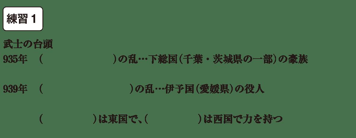 中学歴史12 練習1 カッコ空欄