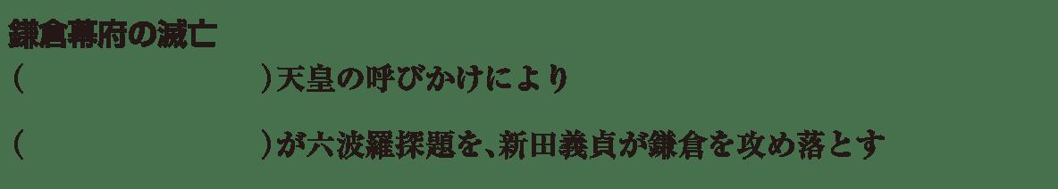 中学歴史18 練習2 「鎌倉時代の滅亡」の項目のみ表示、カッコ空欄