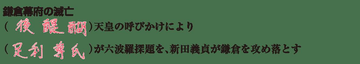 中学歴史18 練習2 「鎌倉時代の滅亡」の項目のみ表示、答え入り