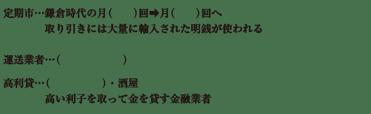 中学歴史22 練習2 最初の5行のみ表示、カッコ空欄
