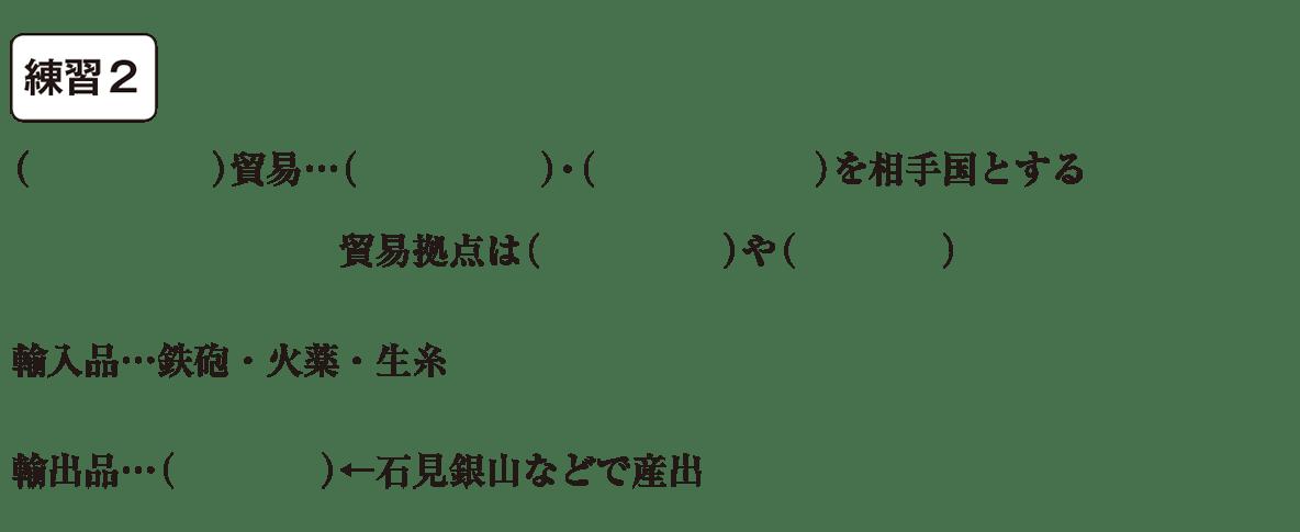 中学歴史26 練習2 カッコ空欄