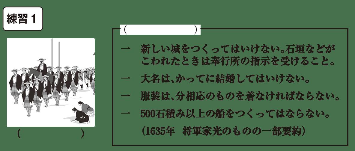 中学歴史30 練習1 カッコ空欄
