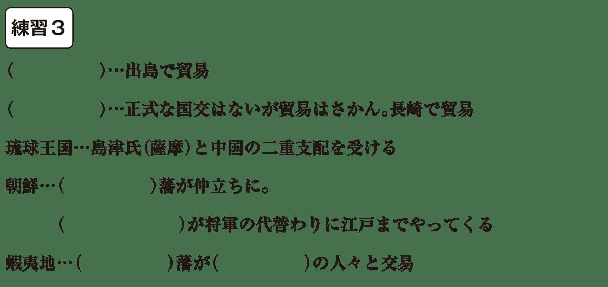 中学歴史31 練習3 カッコ空欄