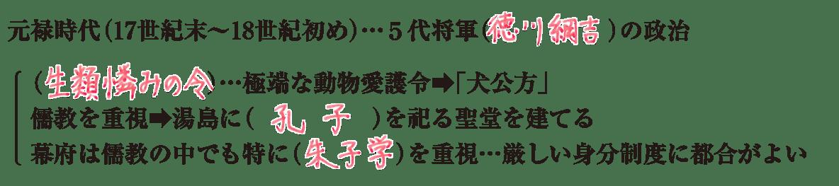 中学歴史32 練習1 最初の4行のみ表示、答え入り