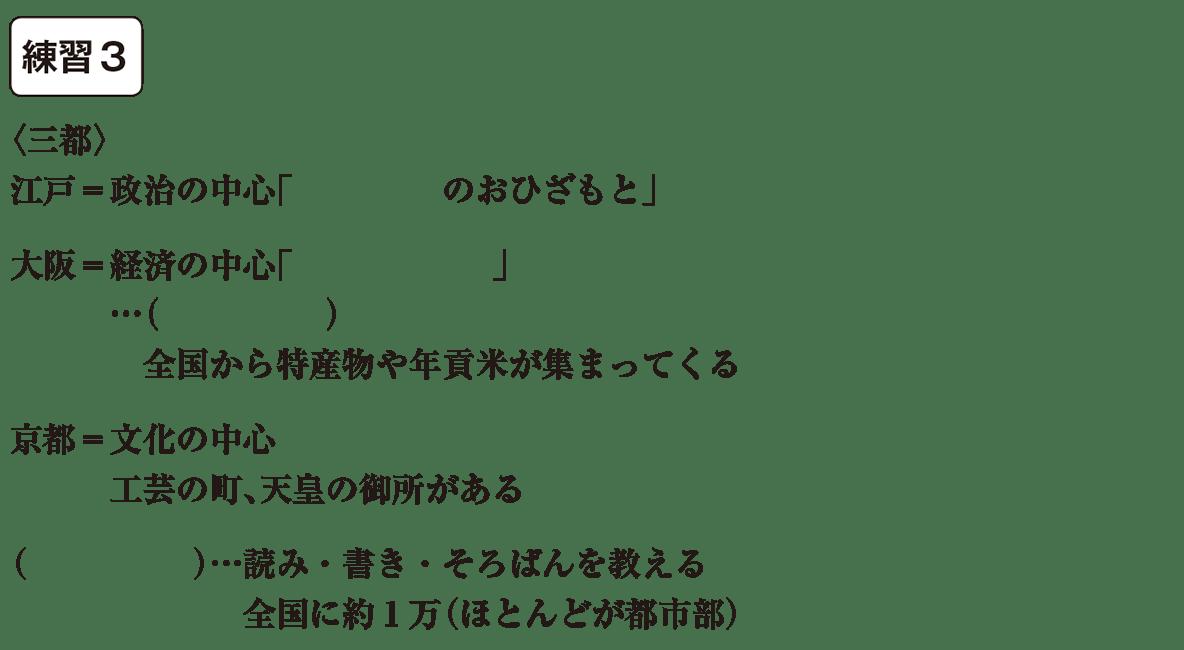 中学歴史34 練習3 カッコ空欄