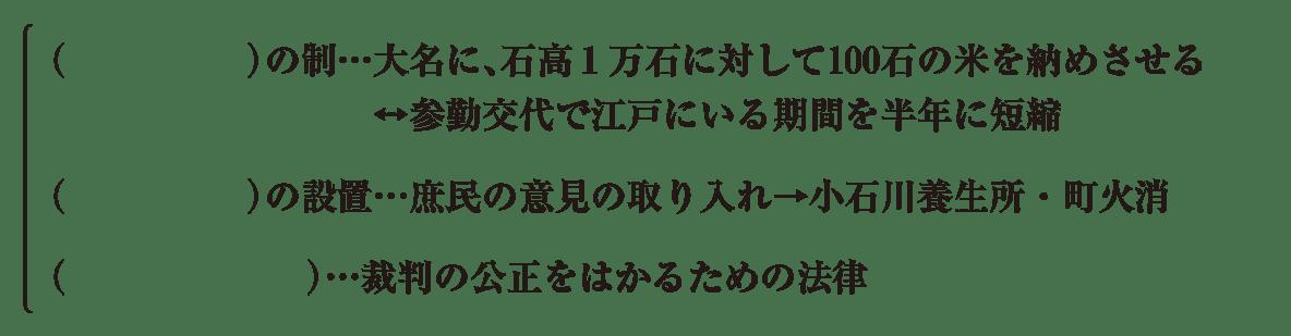 中学歴史35 練習1 最初の2行以外(上米の制~)表示、カッコ空欄
