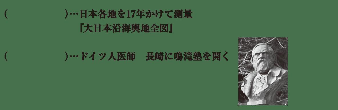 中学歴史37 練習2 伊能忠敬よりあとの項目のみ表示、カッコ空欄