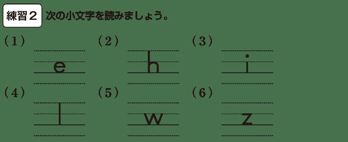 中1 英語1 練習2