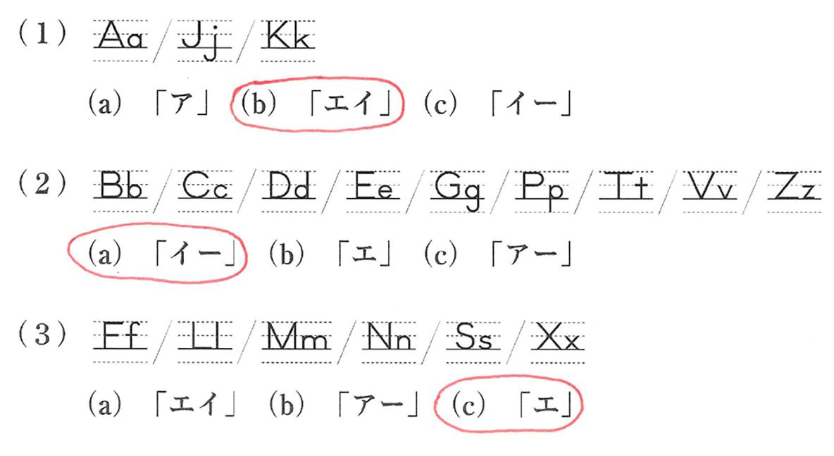 中1 英語1 練習3の答え