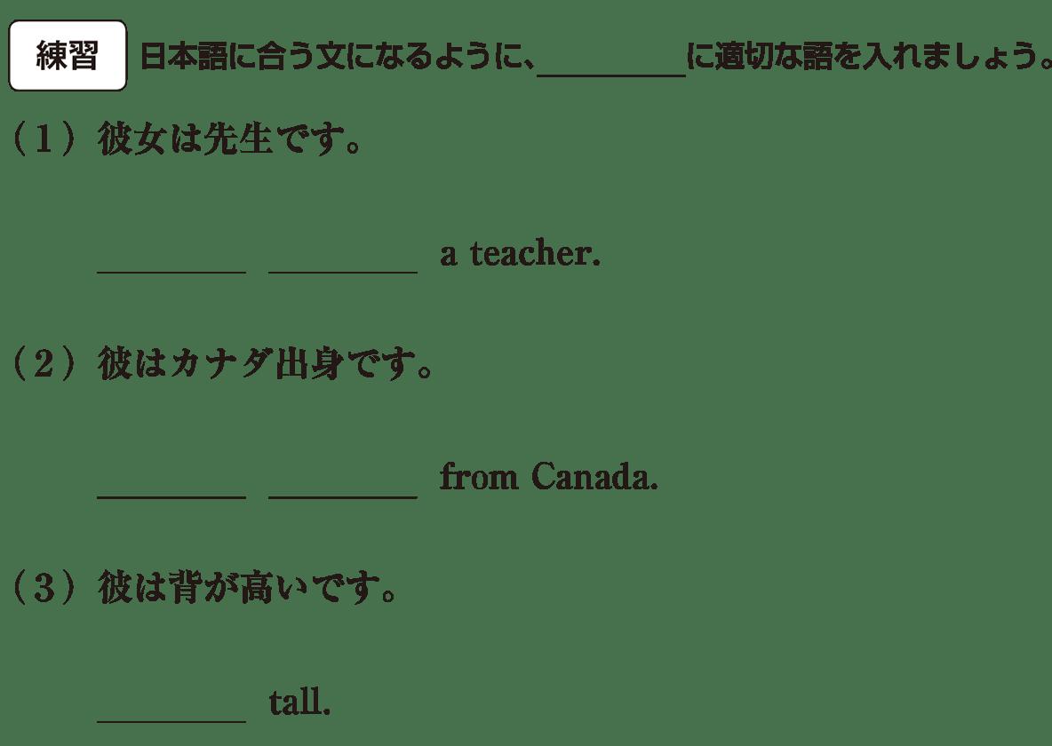 中1 英語11 練習