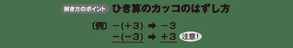中1 数学8 ポイント