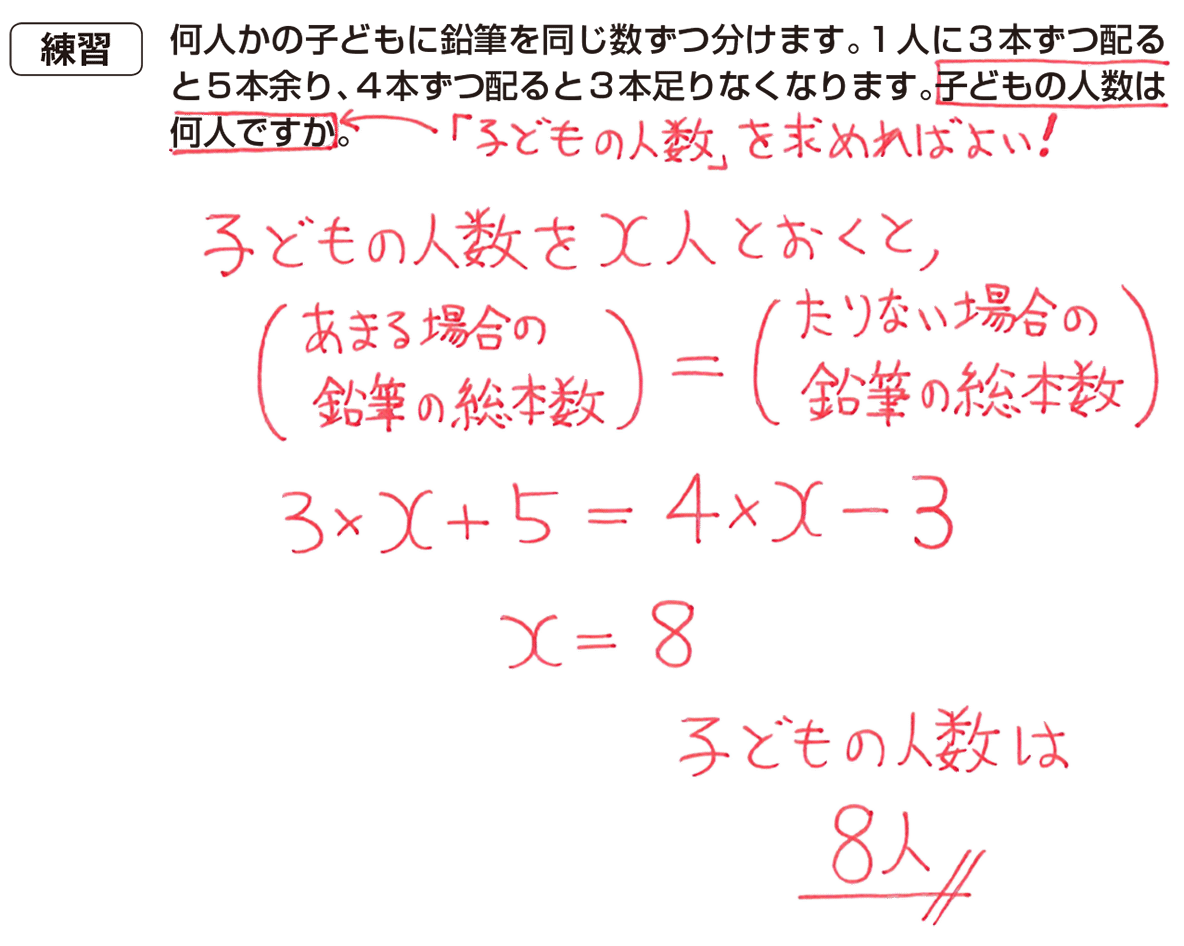 中1 数学41 練習の答え