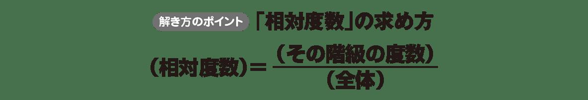 中1 数学 資料の整理3 ポイント