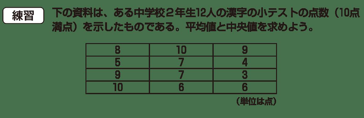 中1 数学 資料の整理4 練習