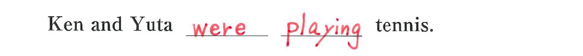 中2 英語47 練習(2)の答え