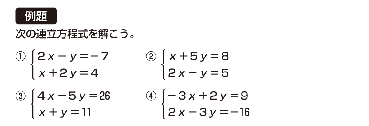 中2 数学99 例題