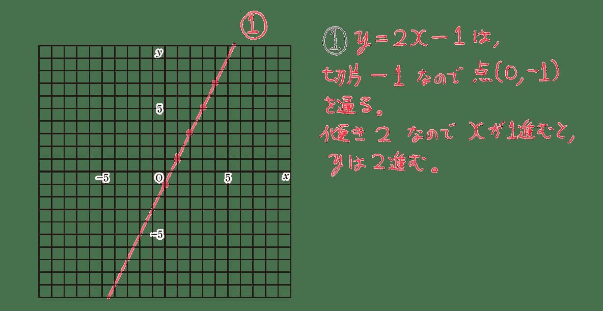 中2 数学110 例題①の答え