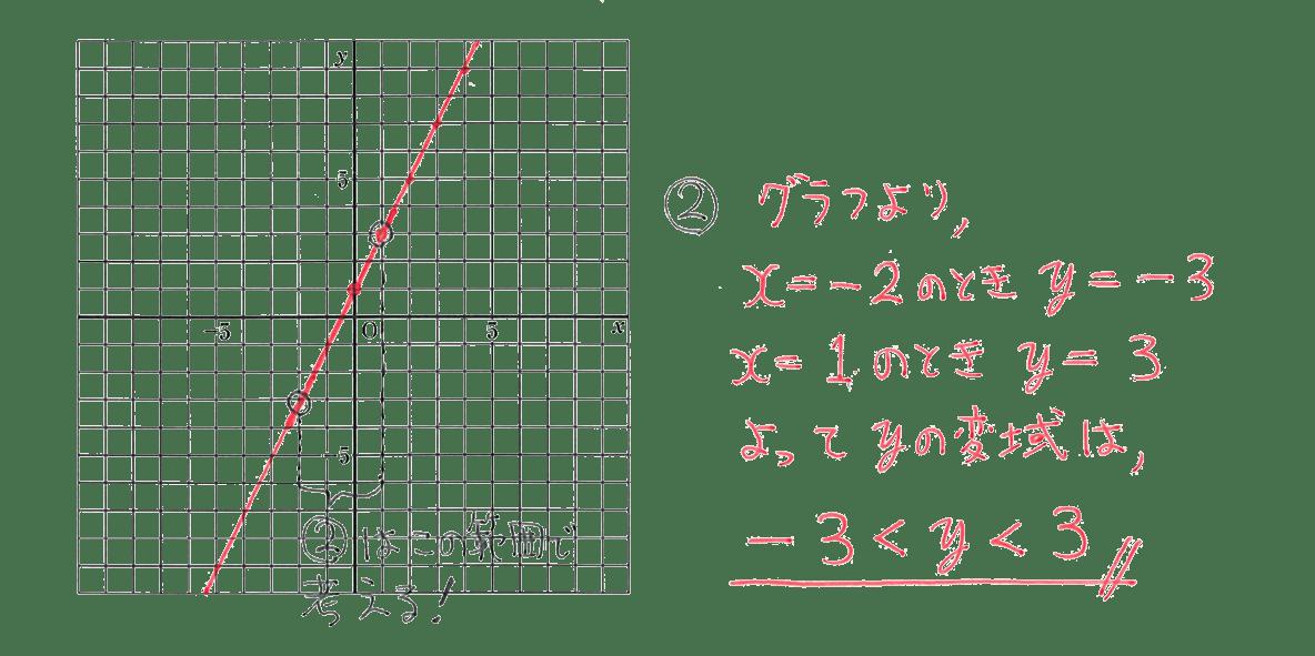 中2 数学111 例題②の答え