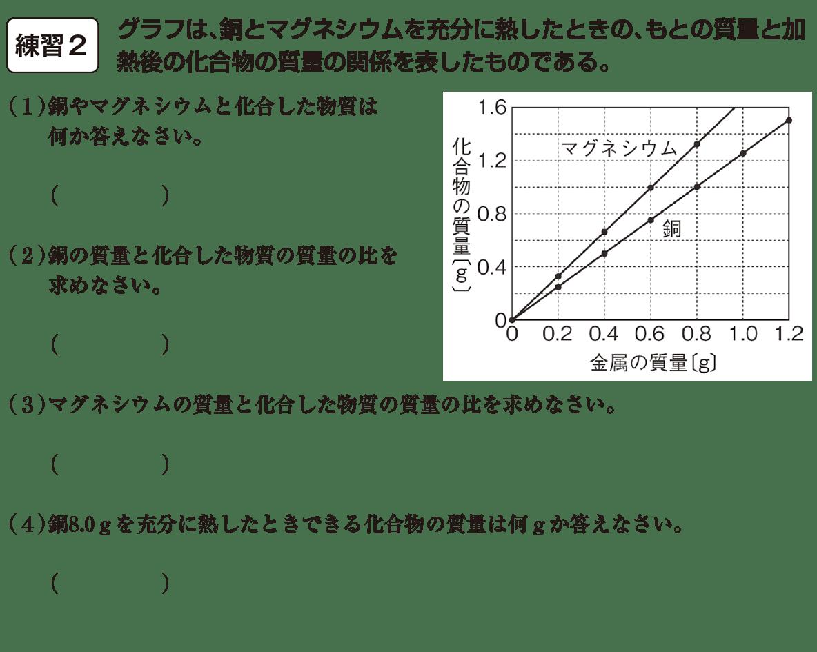 中2 理科化学14 練習2、空欄