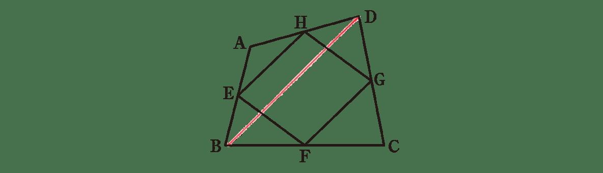 中3 数学231 例題の答え 問題に補助線を引いた図