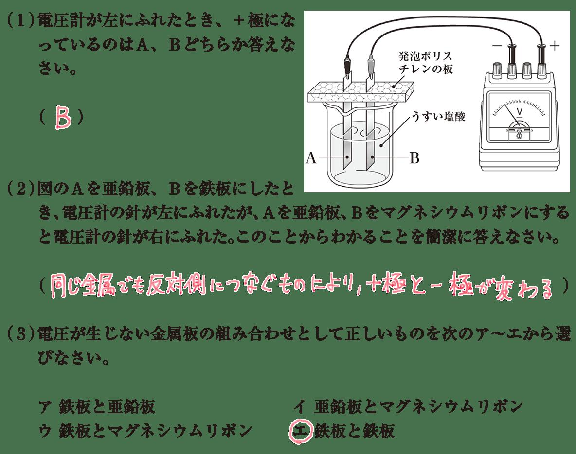 中3 化学5 練習1 答え入り