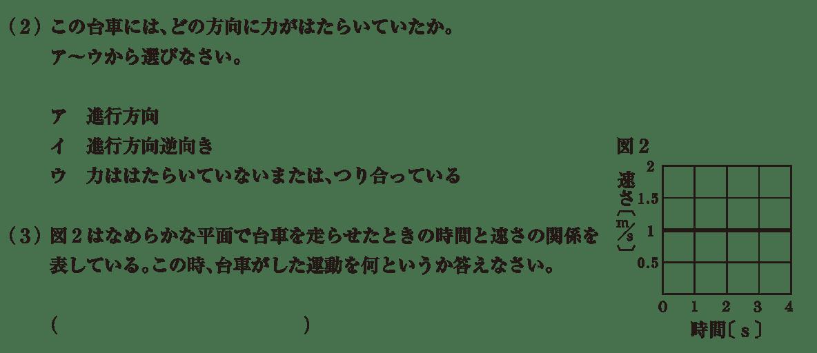 中3 物理5 練習2(2)(3)答えなし