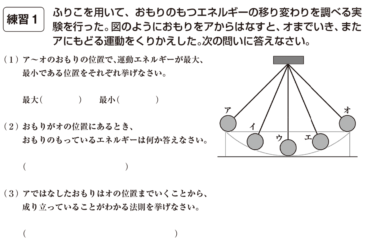 中3 物理12 練習1 答えなし