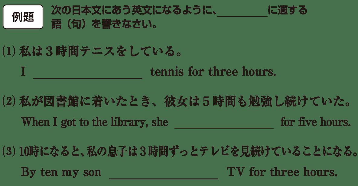 時制1の例題(1)(2)(3)