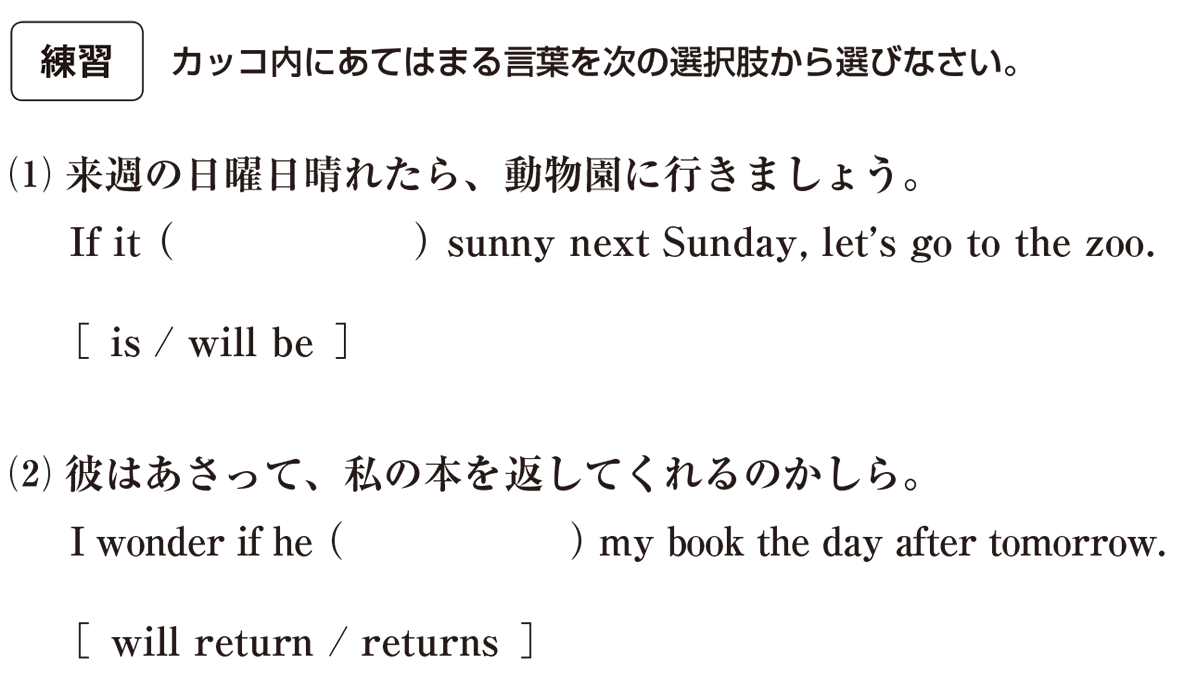 時制28の練習(1)(2)