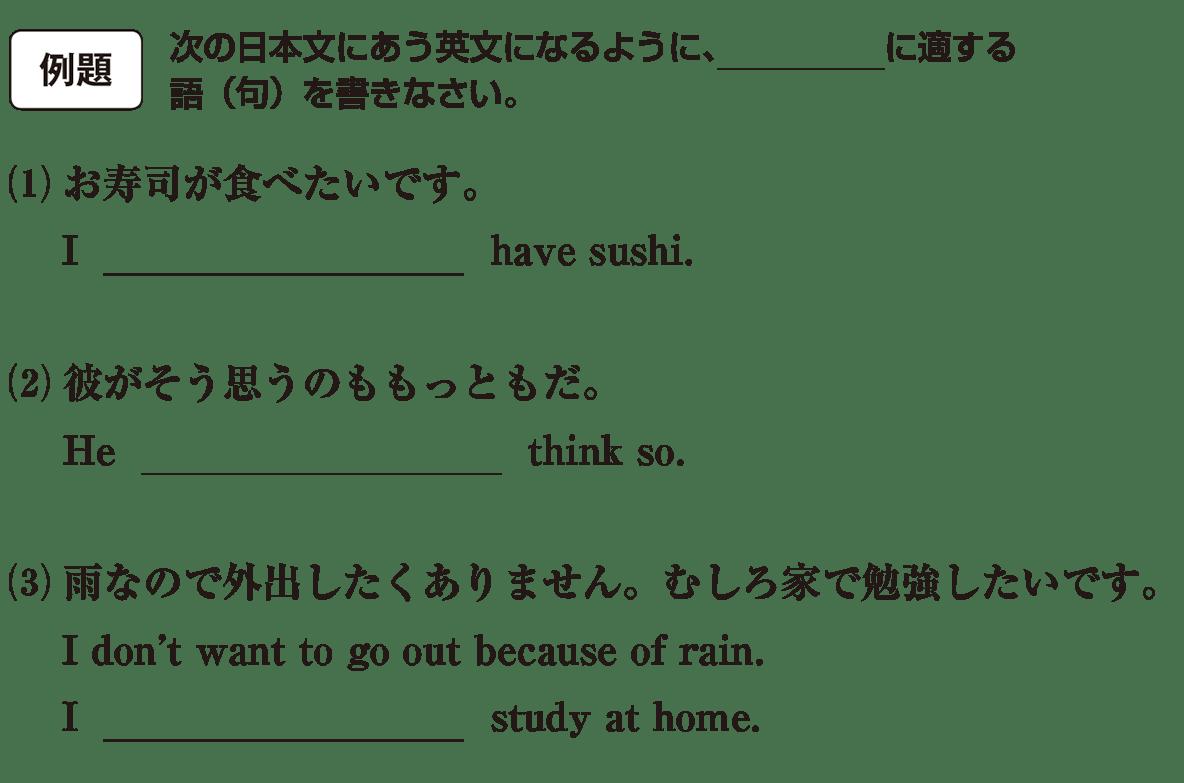 助動詞21の例題(1)(2)(3) アイコンあり