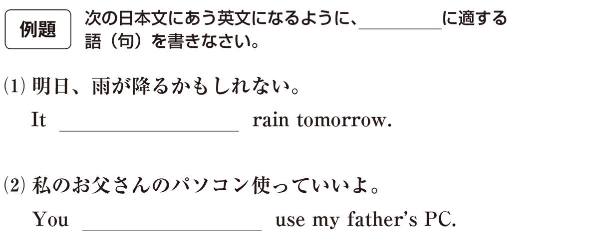 助動詞5の例題(1)(2) アイコンあり