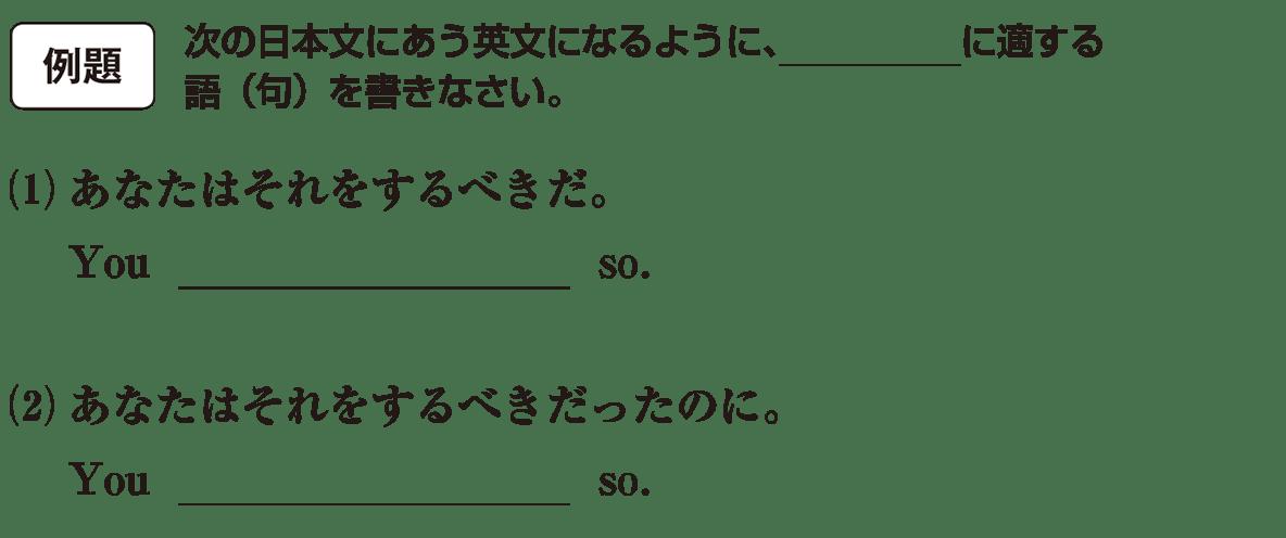 助動詞17の例題(1)(2) アイコンあり